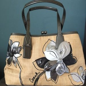 Coach Brand New Natural Embellished Handbag
